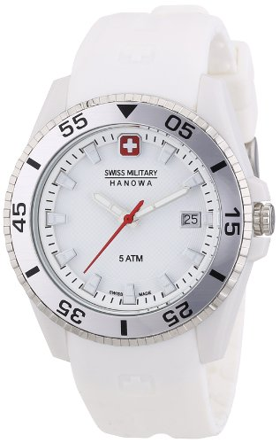 Swiss Military Hanowa 06-6200.21.001.01 - Reloj analógico de cuarzo para mujer, correa de plástico color blanco