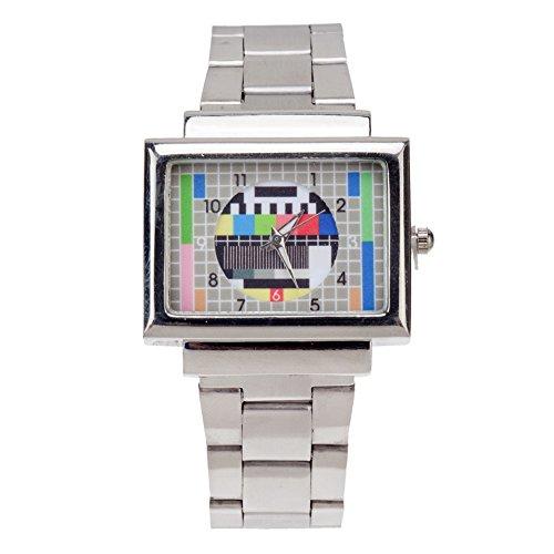 Mejor Calidad Trendy Hipster estilo ajustable Metal plateado Reloj de pulsera de cuarzo con señal de TV de pantalla by VAGA