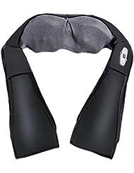 Appareil de Massage Shiatsu, Soriace® 4D Ceinture de Massage Infrarouge avec Chauffant et Adaptateur pour Cervical Dorsal Lombaire Pétrissage Profond, (Style A,Noir)