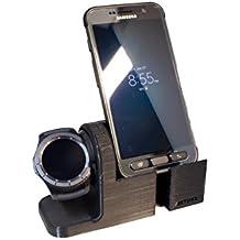 Samsung Gear S3Orologio stand, Artifex di ricarica Dock Stand per gears3Orologio, nuova 3d stampato Tecnologia, Smartwatch Cradle Samsung Phone Combo