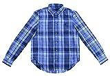 Ralph Lauren Bluse Button Down Blau Weiß Kariert Dyed Garment gewasche Optik (40 (10))