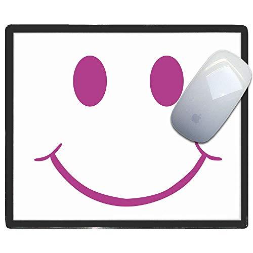 Purple Smiley - Kunststoff-Mauspad