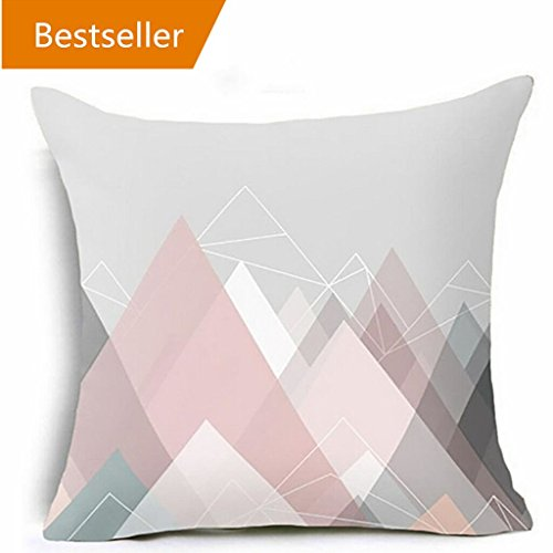 Kissenbezug Kissenhülle 45x45 cm Ronamick Geometrisch Kissenbezug Taille Kissen Abdeckung Sofa Zuhause Dekor (I)