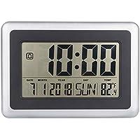 GOTTING LCD digital de pared grande del termómetro del reloj del calendario de escritorio Medidor de tiempo Alarma electrónica Interiores Temperatura
