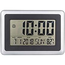 GOTTING LCD digital de pared grande del termómetro del reloj del calendario de escritorio Medidor de