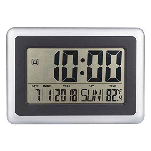 Topker LCD digital de pared grande del termómetro del reloj del calendario de escritorio...