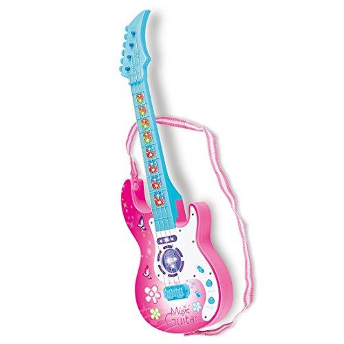 Kindergitarre, Vicoki 4 Saiten Kinder Musikinstrumente Musik Gitarre Spielzeug mit Licht und Spielfunktion für Pädagogisches (Kleinkind-string-licht)