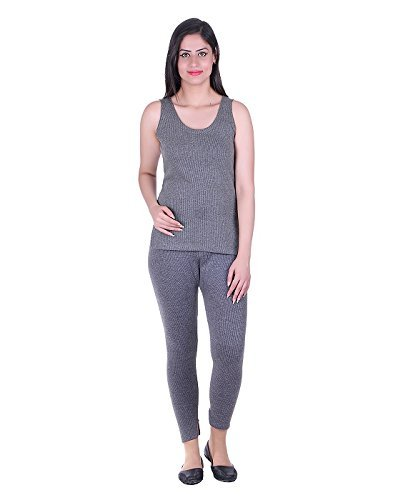 DREAMDROP WARMERS Women Grey thermal SL/BOTTOM SET BY FASHION LINE