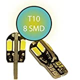 jurmann Trade GmbH® 8Xenon LED luz de posición, base de cristal W5W T10, Canbus, Xenon Blanco