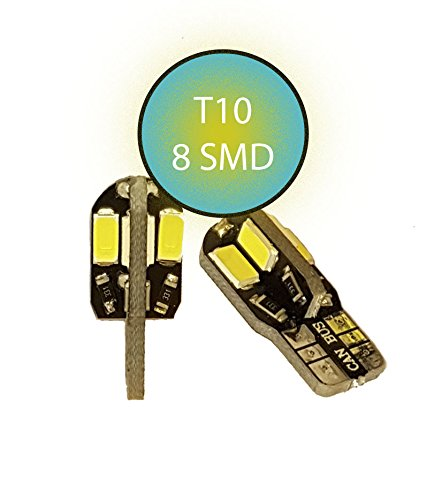Preisvergleich Produktbild Jurmann Trade GmbH® 8er Xenon LED Standlicht,  Glassockel w5w T10,  CanBus,  Xenon Weiss