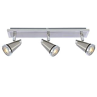 Ascher LED Deckenleuchte Schwenkbar (Inkl. 3 x 5W GU10 COB LED Lampe, 450LM, Warmweiß), LED Deckenlampe LED Deckenstrahler LED Deckenspot