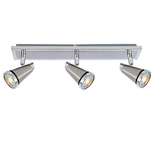 Ascher LED Deckenleuchte Schwenkbar ( Inkl. 3 x 5W GU10 COB LED Lampe, 450LM, Warmweiß), LED Deckenlampe LED Deckenstrahler LED Deckenspot