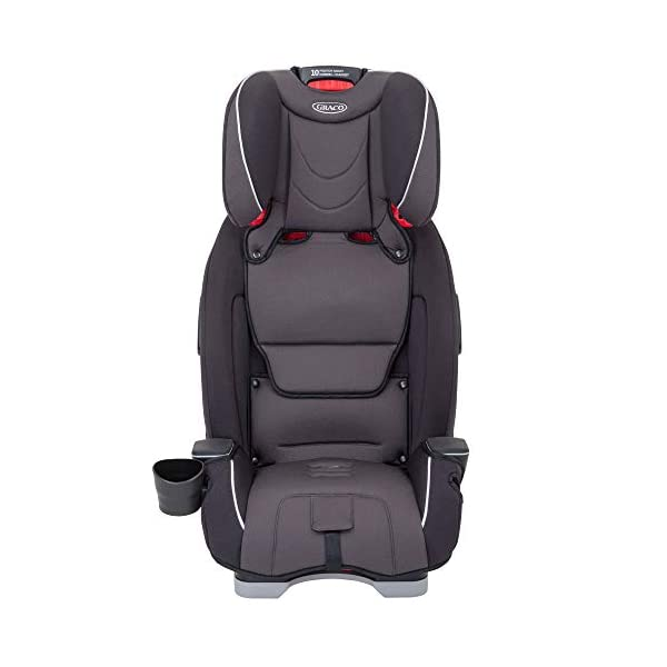 Graco Slimfit All-in-One Car Seat, Group 0+/1/2/3, Pearl Grey Graco 3 in 1 car seat can be used from birth up to 36 kg (approximately 12 years). rearward facing for longer from birth to approx. 4 years (0-18kg) Easily converts to and from the three riding positions; rear-facing harnessed seat (0-18kg), to forward-facing harnessed seat (9-18kg) and to high back booster (15-36kg) True shield safety surround side impact protection for enhanced safety 5