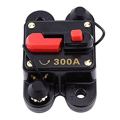 12V-24V 80-300A DC Disjoncteur pour voiture Audio Stéréo avec Réenclenchement Manuel(300A)