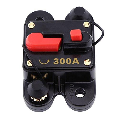 Walfront 12V-24V 80-300A DC Automatische Sicherung Schalter Leistungsschalter Reset Sicherung Auto Marine Boat Bike Stereo Audio(300A) 300 Audio