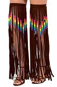 Forum Novelties 74903Hippie de Flecos con cuentas/LEG guirnaldas disfraz (talla única)