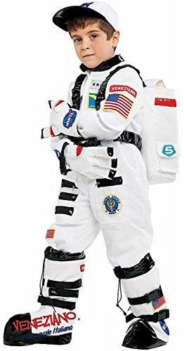 Fancy Me Italienische Herstellung Jungen Weiß Fach Astronaut Karneval Halloween büchertag Woche Kostüm Kleid Outfit - 3 Years