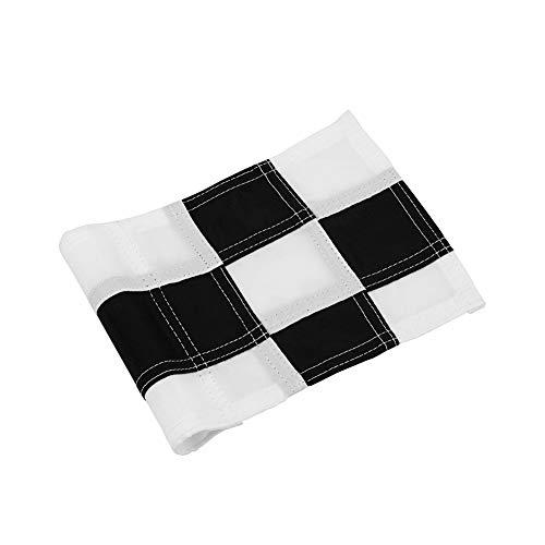 (Tofree 18 x 12 cm Hinterhofübung Golf Loch Pole Cup Flag Putting Green Flag Golfer Mehrfarbig schwarz/weiß)