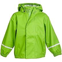 smileBaby wasserdichte Kinder Regenjacke Regenmantel mit abnehmbarer Kapuze Unisex in verschiedenen Farben und Größen