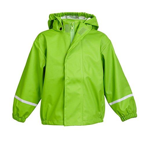 smileBaby wasserdichte Kinder Regenjacke Regenmantel mit abnehmbarer Kapuze Unisex in Grün