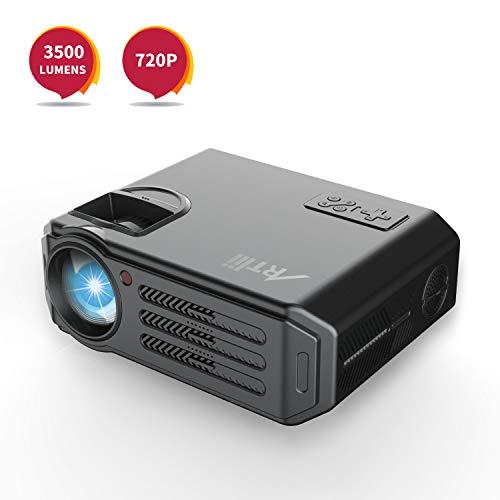 HD Beamer 3500 Lumens Artlii LED Projektor für Heimkino Fußballspiel Gaming, Unterstützung 1080P, mit Kostenlose HDMI-Kabel, Kompatibel mit Amazon Fire TV Stick, USB/SD/VGA/AV Anschlüsse