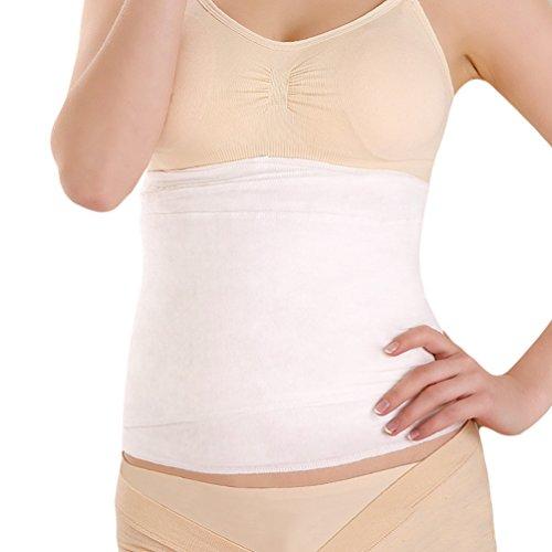 Dexinx Mutterschaft Atmungs Postpartum Slim Recovery Bauch Gaze Einfache Bauch Wrap Convenient für die Wiedererlangung Taille Form Weiß L