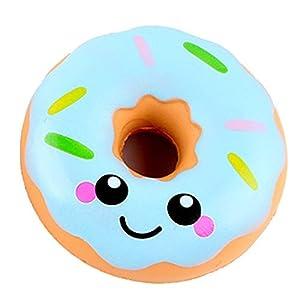 Newin Star Squishy Kawaii,Squishy Donuts Juguete,Juguete de Alivio de Tensión de Lenta Levantar para Niños Adultos(azul) de Newin Star