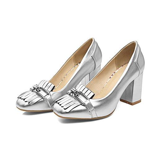 Balamasaapl10228 - Sandales Compensées En Argent Pour Femme