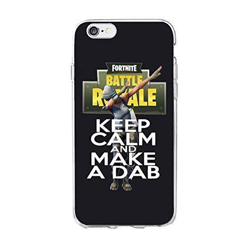 Desconocido Funda de Silicona para iPhone X, Fortnite Keep Calm and Ma