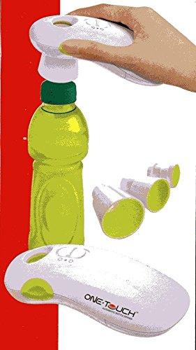 One Touch Flaschenöffner Flaschen Deckelöffner elektrisch mit 3 Adaptern