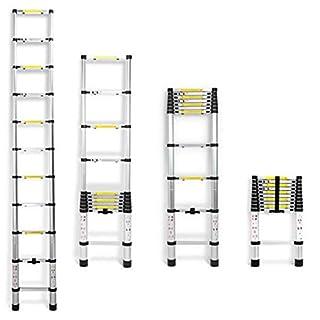 3.2M Portable Multi-Purpose Folding Aluminium Telescopic Ladder Extension Extendable Builders - 11 Steps