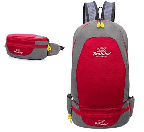 Borsa all'aperto alpinismo piegato tasche di borsa a tracolla unisex coppia , orange Red