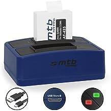 Batería + Cargador doble (USB) para cámara deportiva Qumox SJ5000(+), SJ5000X, SJ4000(+) / SJCam M10(+), X1000... - contiene cable micro USB