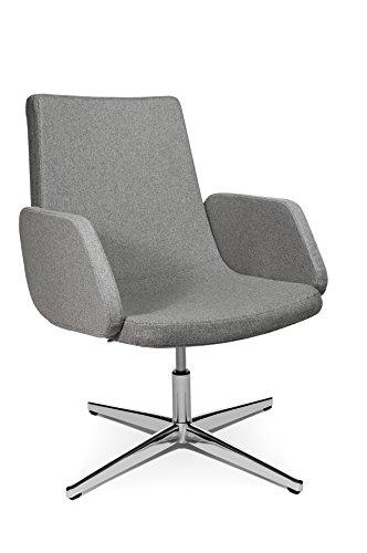 Topstar SLO29AL53 Drehsessel Sitness Lounge 20, 60 x 63 x 98, hellgrau