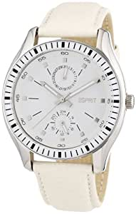 Esprit Damen-Armbanduhr 304 STAINLESS STEEL Analog Quarz Leder A.ES105632002