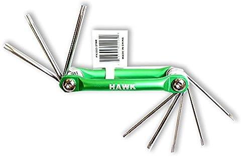 8 Piece, Single Unit Hexagonal Torx Screwdriver Set (Metallic One Pocket)