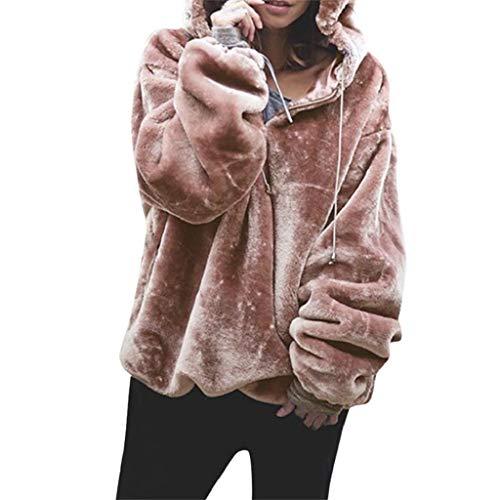 VJGOAL Damen Jacke, Damen Weiche Flauschige Pullover warme -