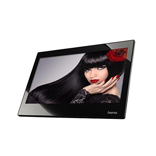Hama Digitaler Bilderrahmen (Slim, mit Musik-/Video-Wiedergabe (33,8 cm (13,3 Zoll), Full HD, HDMI, USB, SD/SDHC/MMC-Kartenslot, MP3, mit Fernbedienung) schwarz