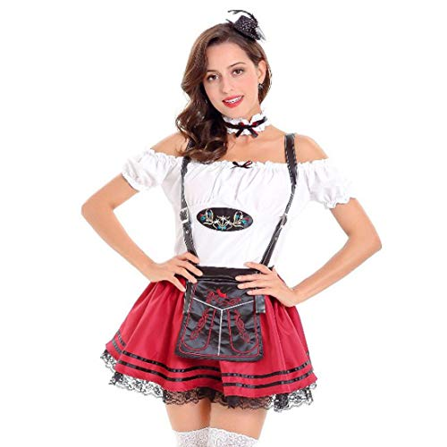 Kanpola Damen Kleider Frauen Spitze Oktoberfest Kostüm Bayerisches -