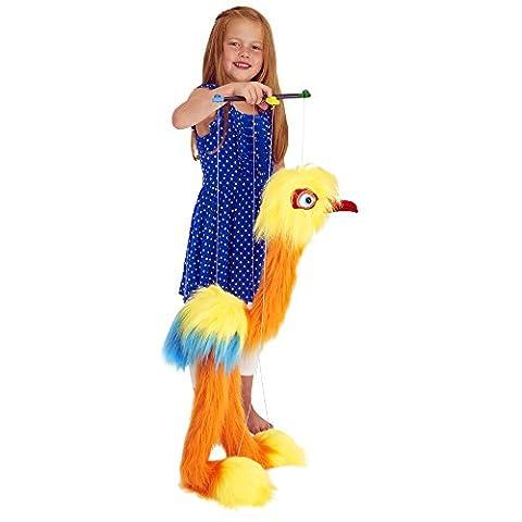 Marionnettes à fil Oiseaux Oiseau tropical (jaune/orange/bleu)