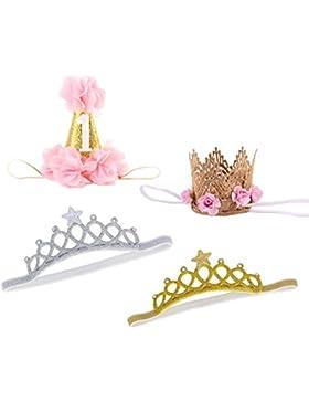 Emitha 4 Stück Baby Stirnbänder verknotete Baby Stirnband , Baby Turban, Mädchen Headwrap Knot Stirnband Kleinkind...