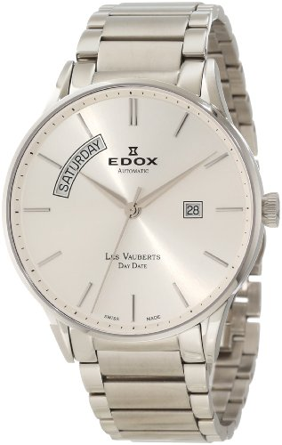 Edox Les Vauberts Day Date Automatik Herrenuhr 83011 3B AIN