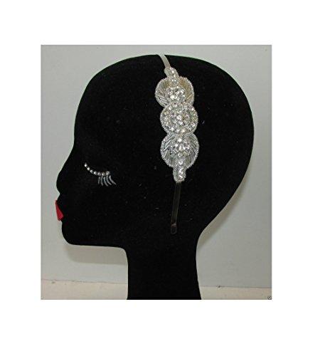 Argent Diamante bandeau de mariage Prom demoiselle d'honneur Style vintage années 1920 Flapper Deco Q61 * * * * * * * * exclusivement vendu par - Beauté * * * * * * * *