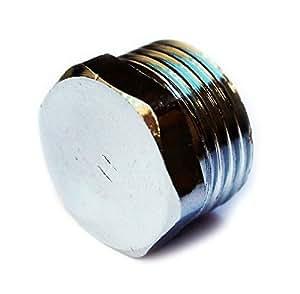 """1/2 """"mâle hexagonal bsp chrome vis de tuyau obturateur bouchon d'extrémité du tube couvercle"""