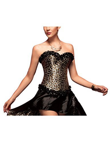 CIDEARY - Bustino -  donna Leopard Print XX-Large