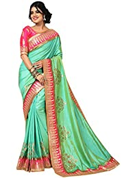 Craftsvilla Women's Silk Saree With Blouse Piece(Mcraf69795960800_Green_Free Size)