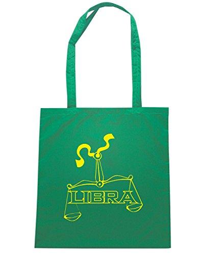T-Shirtshock - Borsa Shopping T0226 LIBRA bilancia religioni celtic Verde