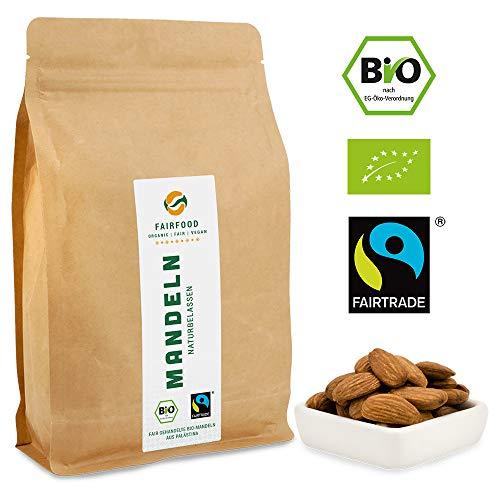 Bio Fairtrade Mandeln: Rohkost und Naturbelassen (500g) | Ur-Sorte'Hassan Al Assad' aus Kooperative...