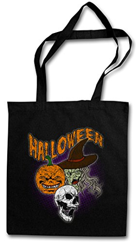 ter Bag Beutel Stofftasche Einkaufstasche (Calabaza De Halloween)