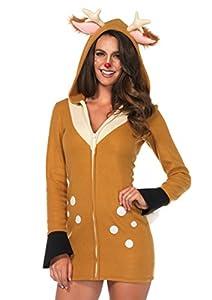 Leg Avenue- Mujer, Color marrón, caqui, Large (EUR 42-44) (85587)